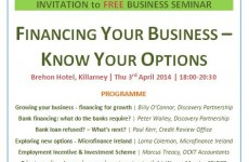 INVITATION Free Business Seminar SME Finance Killarney April 2014
