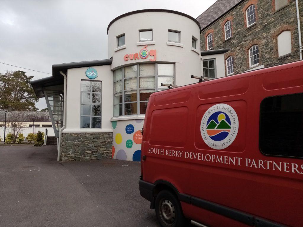 SKDP Van delivering hampers to Eurog Killarney
