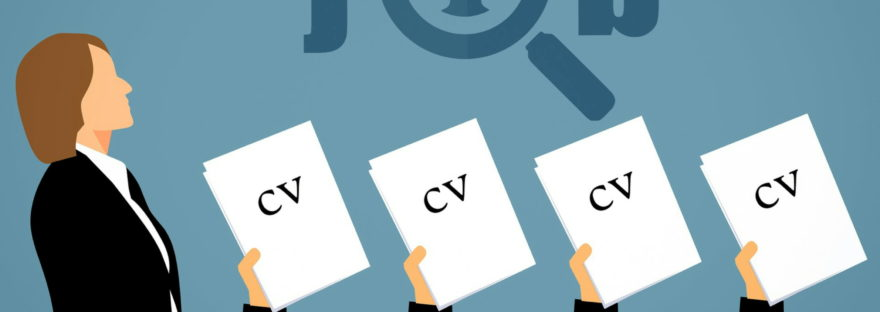 Graphic of CVs being applied for a job