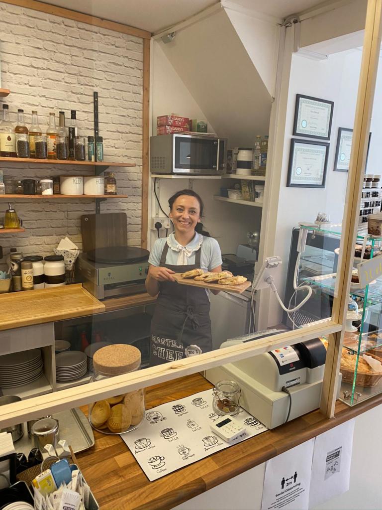 Kasia, propreitor of the Mill café